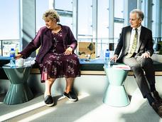 Erna Solberg og Jonas Gahr Støre.