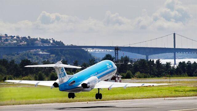 KLM har daglige avganger mellom Kristiansand og Amsterdam.