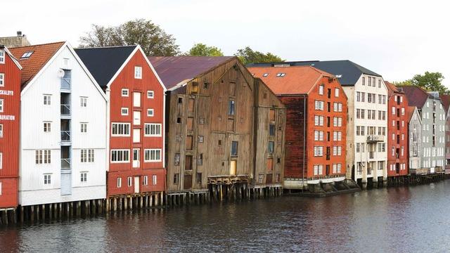 Bryggene i Trondheim.