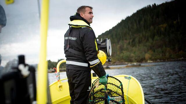 Her er Fiskeridirektoratet ute på en kontroll i 2019.