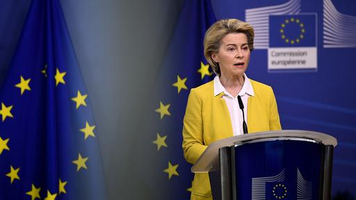 EU-kommisjonens president Ursula von der Leyen. Foto: John Thys / AP / NTB