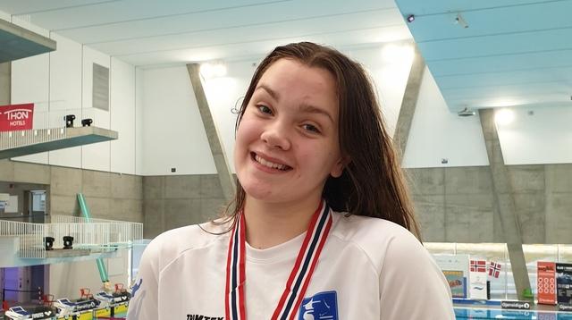 BRONSE: Mathilie Jensen Flatli med helgas andre bronsemedalje.