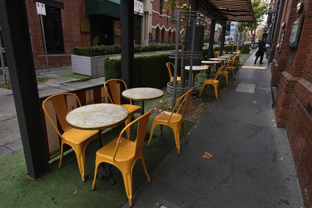 Tom kafé i Melbourne i Australia.