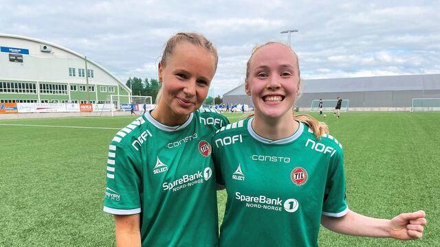 MER TIL 2020-JUBEL? Her er Ina Birkelund (til høyre) sammen med Sandra Simonsen.
