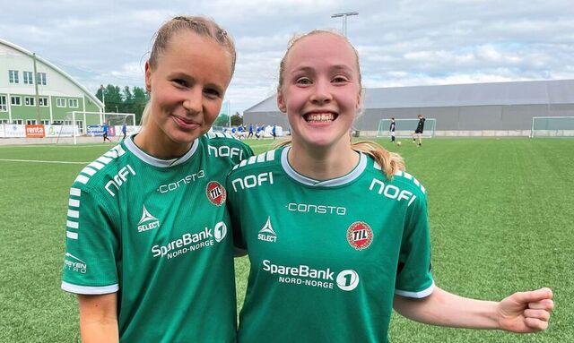 TATT UT: Her er Ina Birkelund (til høyre) sammen med Sandra Simonsen.