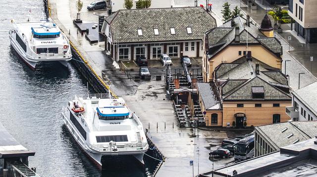 Restaurant Toldboden ved Skansekaia i Ålesund sentrum. Foto: Halvard Alvik / NTB