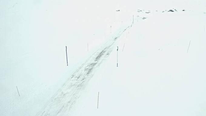 VINTERLIG: Slik så det ut i Vossadalen på Vikafjell ved 15.30-tiden mandag.