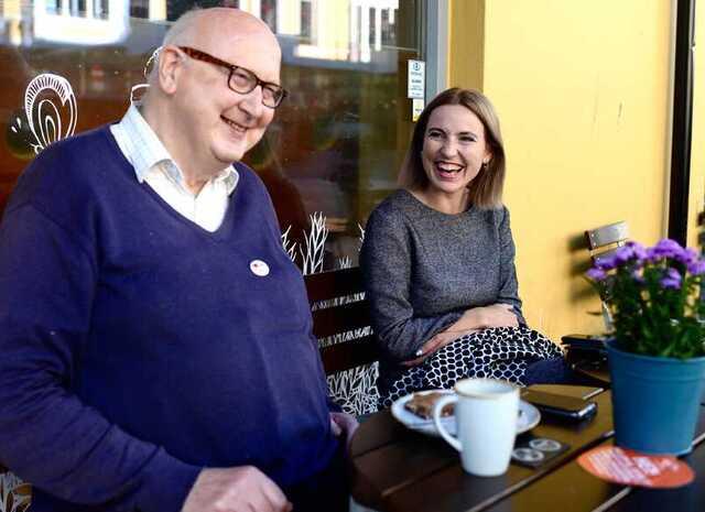 Rødt-politikerne Torstein Dale og Sofie Marhaug.