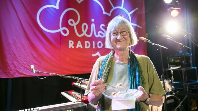 Tidligere programleder Else Michelet under feiringen av Reiseradioen 50 år i NRK i 2013. Foto: Heiko Junge / NTB