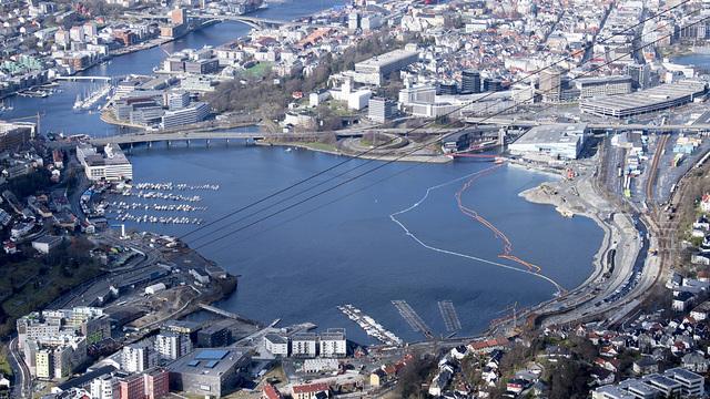 Store Lungegårdsvannet i sentrum av Bergen. Foto: Marit Hommedal / NTB
