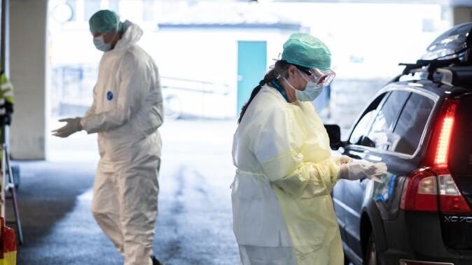 Haukeland universitesjukehus tester sin egne ansatte for korona.