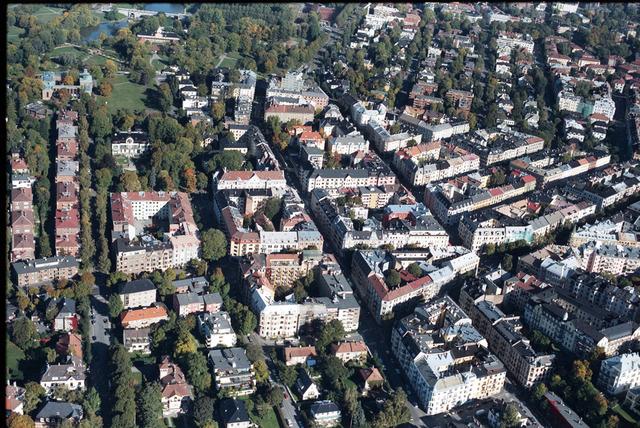 Tolv av de 37 smittede det siste døgnet er bosatt her i Frogner bydel. Foto: Lasse Tur / NTB