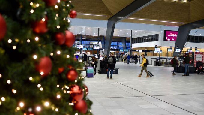 STILLE: Flytrafikken har fordelt seg over flere dager denne julen.