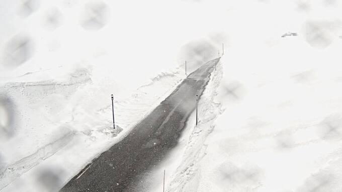 Riksvei 13 ved Vossadalen onsdag ettermiddag.