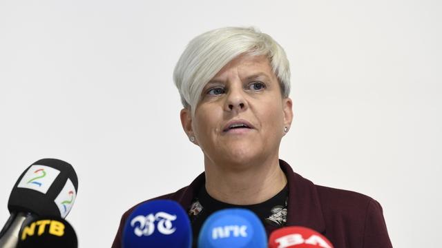 Helsebyråd Beate Husa på en pressekonferanse i slutten av september.