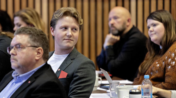 SA NEI TIL FORSLAG: Leder Geir Steinar Dale og nestleder Emil Gadolin stemte mot forslaget.