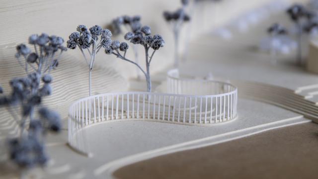 Arkitektkontoret Manthey Kula har tegnet minnesmerket som er planlagt ved Utøykaia i Tyrifjorden.