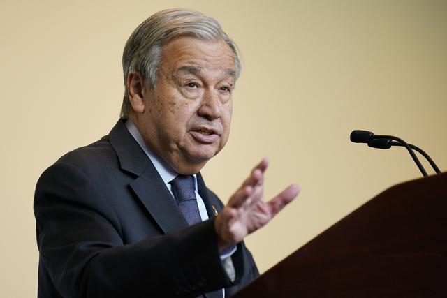 FNs generalsekretær António Guterres. Foto: John Minchillo / AP / NTB