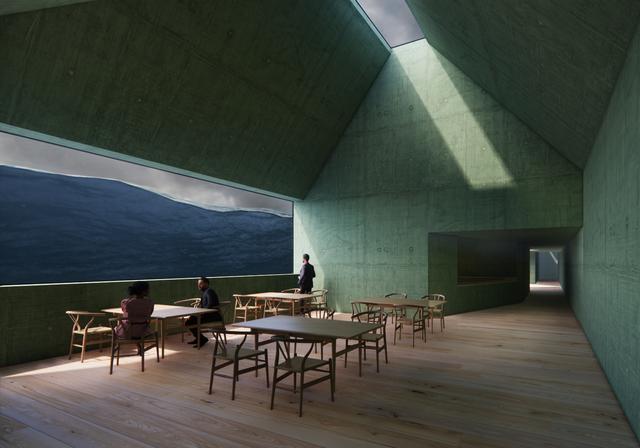 Restauranten skal gi utsikt til Sognefjordens fjell og dyp, og skal i følge Kviknes holde nasjonal toppklasse.