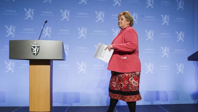 Statsminister Erna Solberg håper at Norge kan starte vaksinering mot covid-19 i starten av neste år. Foto: Vidar Ruud / NTB