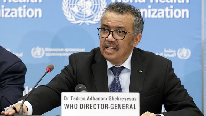 WHO-direktør Tedros Adhanom Ghebreyesus.