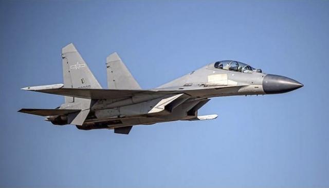 Ett av de kinesiske militærflyene som Taiwan reagerte på tirsdag. Foto: Taiwan Ministry of Defense / AP / NTB