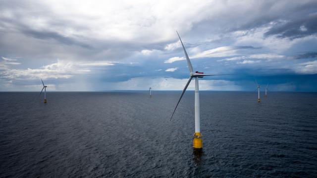 BP, Aker og Statkraft skal utvikle havvind i Norge. Dette er et arkivfoto fra 2017 av Equinors vindmølleanlegg utenfor Skottland.