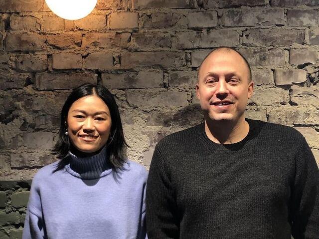 Michelle Zhao og Christopher Haatuft