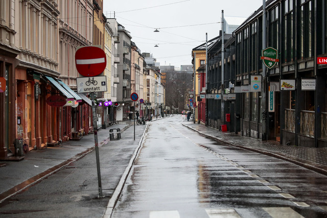 Markveien på Grünerløkka. Bydelen har for tiden det høyeste smittetrykket i Oslo.