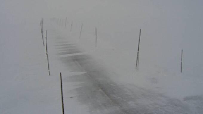 Rv7 over Hardangervidda er stengt og vil ikke åpne i dag.