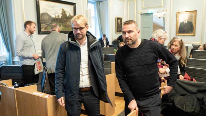 KAN BLI VENNER IGJEN: Roger Valhammer (Ap) og Mikkel Grüner (SV)