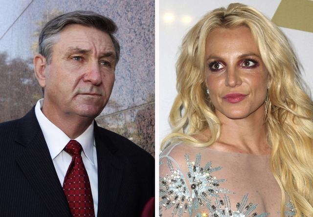 Britney Spears har gått rettens vei i et forsøk på å frata faren Jamie Spears (til venstre) rollen som verge over henne. Arkivfoto: AP / NTB