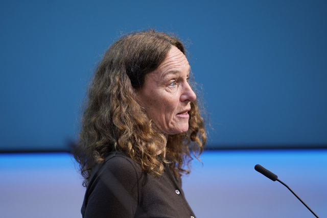 Direktør Camilla Stoltenberg i Folkehelseinstituttet. FHI har kommet med en oppsummering av koronapandemien i Norge. Foto: Ali Zare / NTB