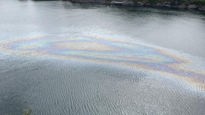 Slik så det ut i Herdlefjorden på Askøy i ettermiddag.