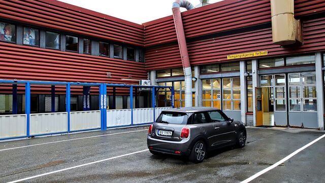 Den nye teststasjonen i Fyllingsdalen