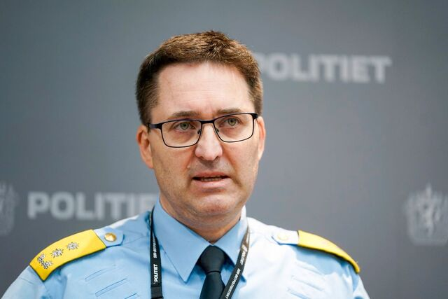Politimester Ole Bredrup Sæverud møtte pressen torsdag.