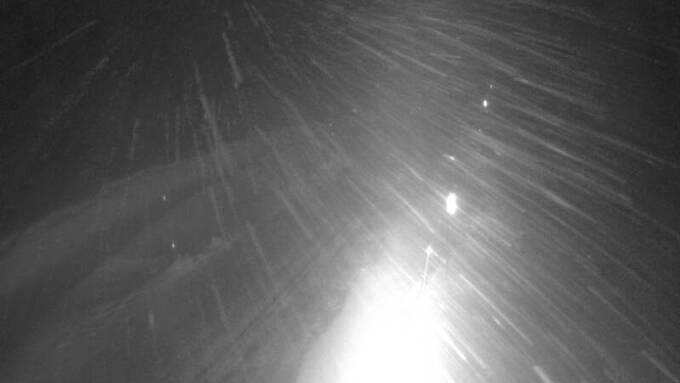 Slik ser det ut i Aurlandsdalen lørdag kveld