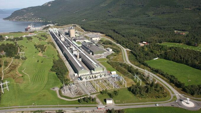 Hydros anlegg på Husnes