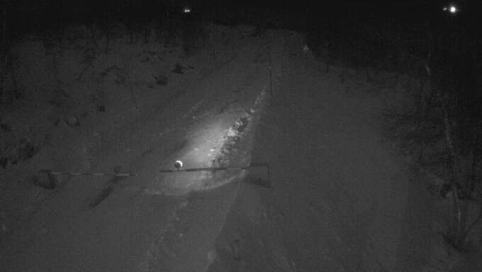 STENGT: Riksvei 7 over Hardangervidda fredag kveld.