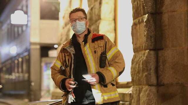 Brannmester Lasse Westby forteller at de har kontroll på lekkasjen.