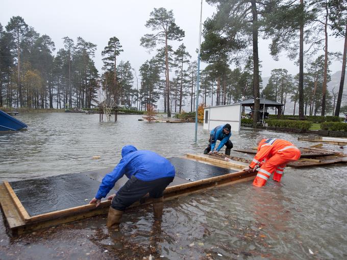 Voss Camping har vært spesielt utsatt når Vossovassdraget har gått over sine bredder.