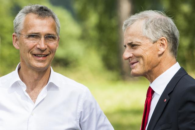 Nato-sjef Jens Stoltenberg og Ap-leder Jonas Gahr Støre.