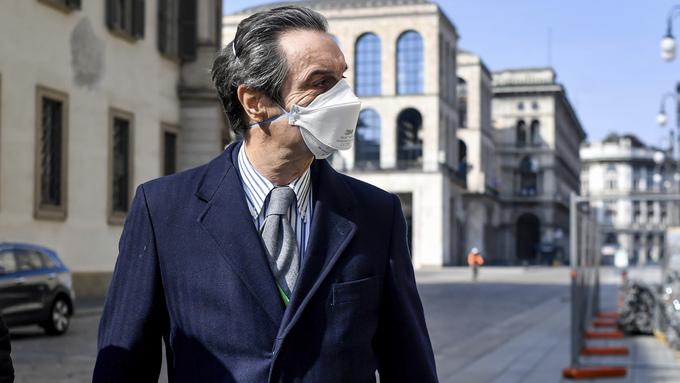 Guvernøren i Lombardia-regionen, den hardest rammede regionen i Italia. Nå sender Norge hjelp.