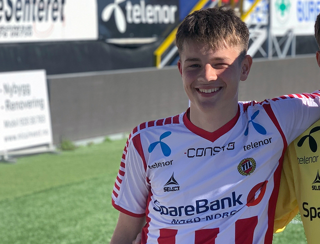 SCORET TO: Didrik Hafstad. Bildet er tatt i 2019. Foto: Mats Rydland