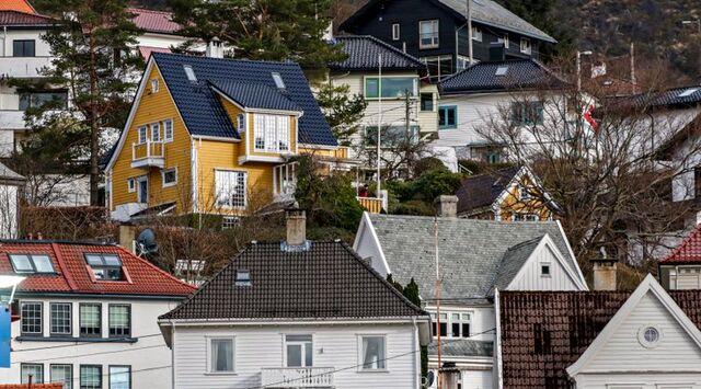 Boligprisene sank i Bergen.