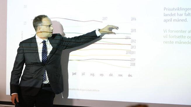 <p><b>MYE PENGER INN I BOLIG:</b> De dyreste objektene kan ofte ta lang tid å selge, men Eiendom Norge-sjef Christian Dreyer får flere meldinger om oppsving i luksussegmentet.</p>