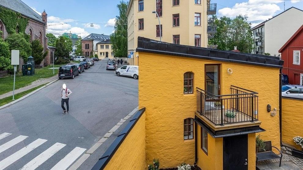 23 KVADRAT: Den frittstående boligen er trolig Oslos minste, ifølge megleren. Selger ber om tre millioner kroner.