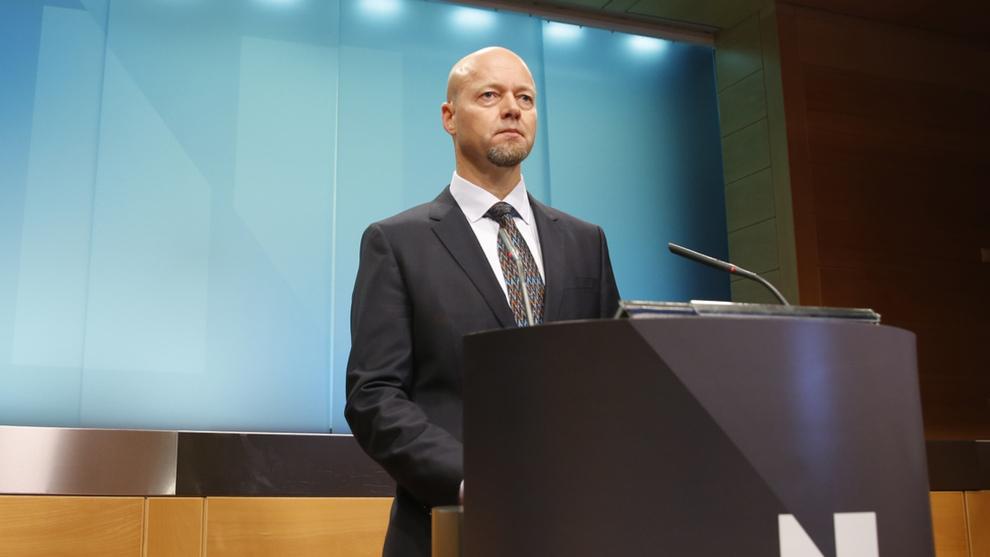 <p><b>FORVALTER:</b> Administrerende direktør Yngve Slyngstad i Norges Bank Investment Management under presentasjonen av kvartalsrapporten for tredje kvartal i fjor.</p>