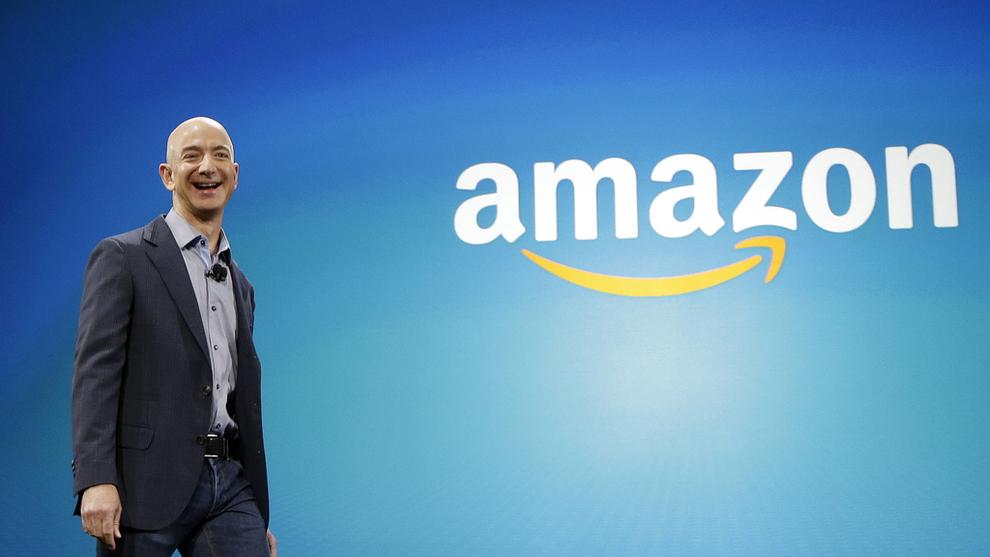 <p><b>VEKST:</b> Amazon-aksjen gjør et stort hopp i etterhandelen på Wall Street etter sterke kvartalsresultater torsdag.</p>