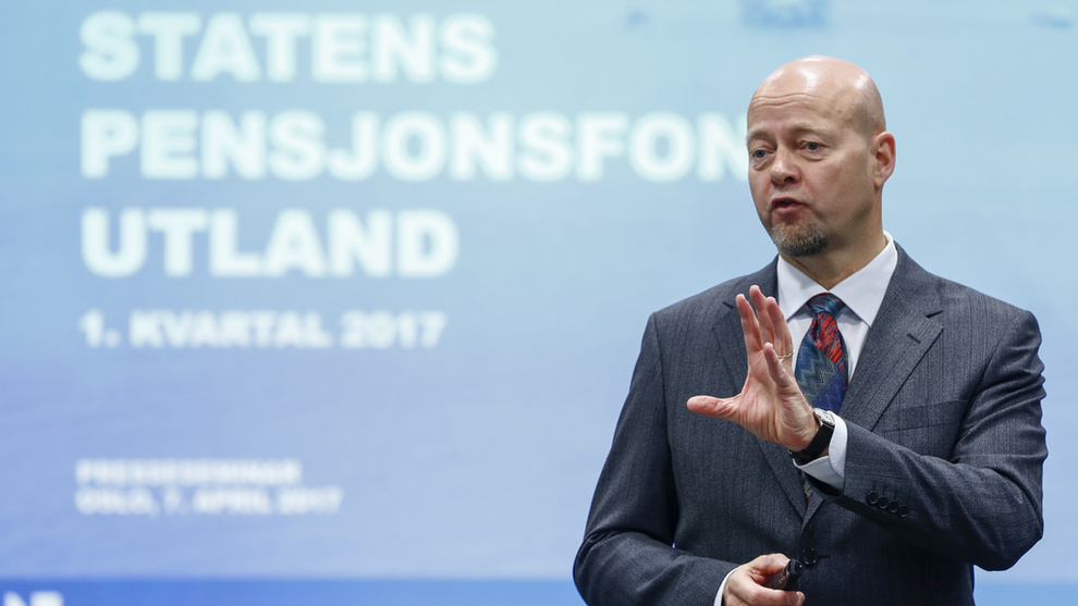<p><b>LEGGER FREM REGNSKAP:</b> Oljefondsjef Yngve Slyngstad legger tirsdag frem Oljefondets regnskap for andre kvartal.</p>